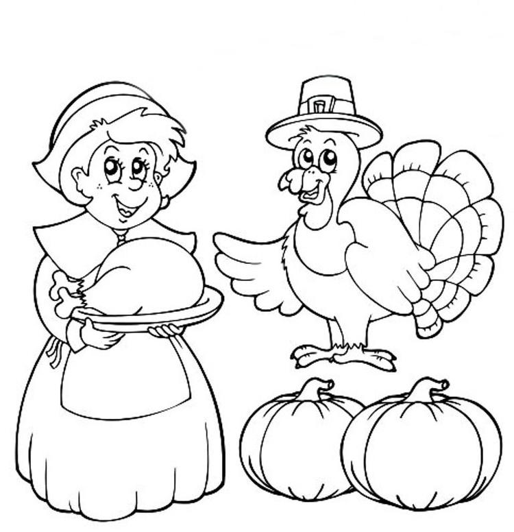 Printable Thanksgiving Coloring Pages Children