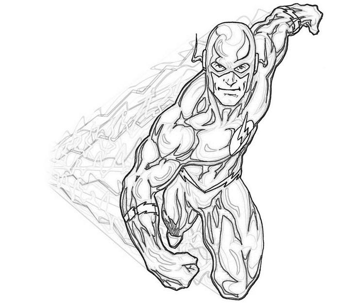 Printable The Flash Coloring Pages
