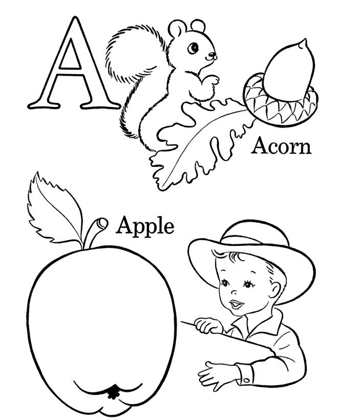 Printable Toddler Alphabet Coloring Pages