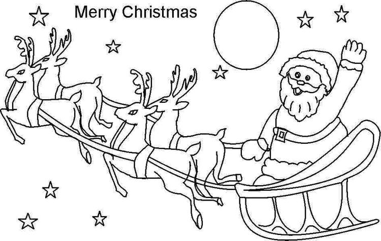Printable Toddler Christmas Coloring Pages
