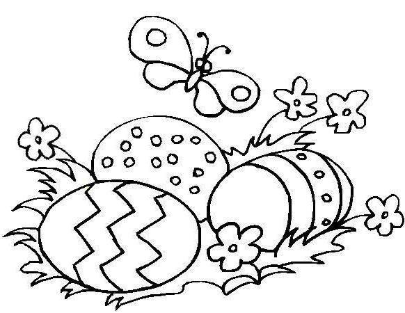 Printable Toddler Easter Coloring Pages 1