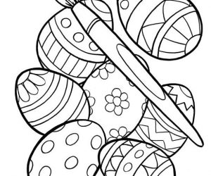 Printable toddler easter coloring pages 2