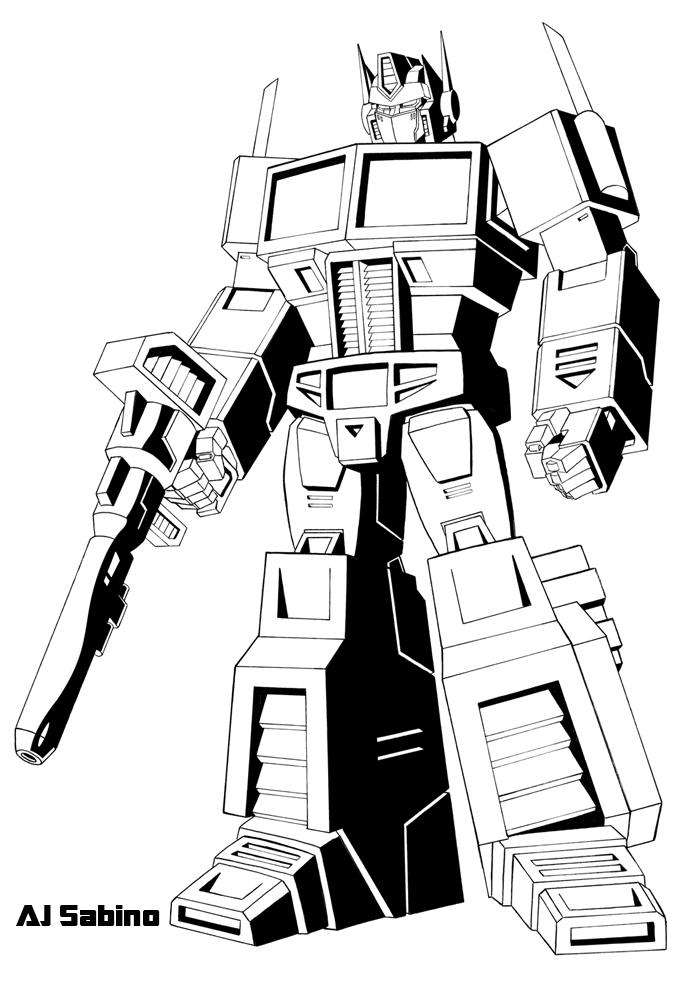 Printable Transformer Coloring Pages For Kids