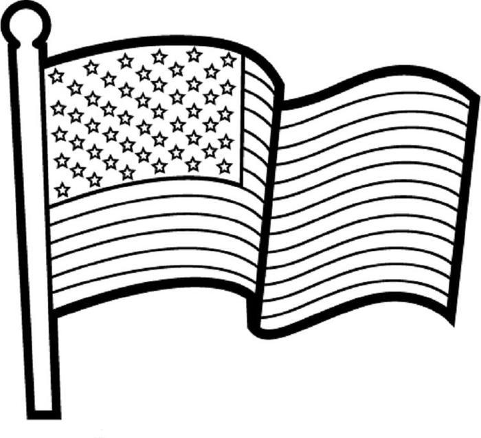 Printable Us Flag Coloring Pages