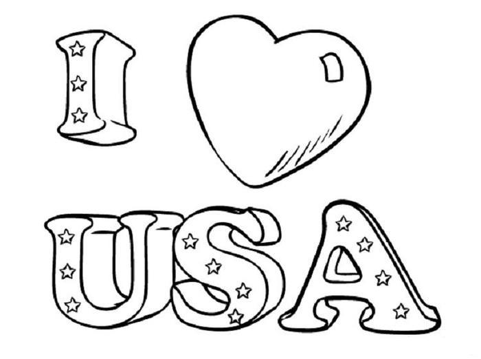Printable Usa Coloring Pages