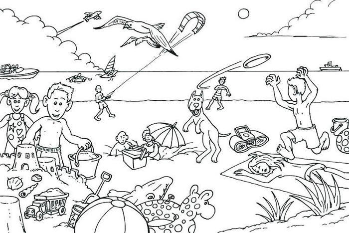 Printable Vacation Coloring Pages