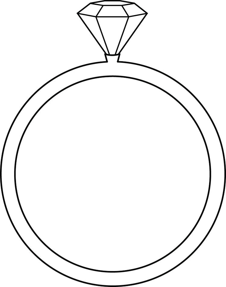 Printable Wedding Ring Coloring Pages