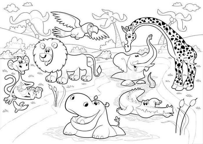 Printable Wildlife Coloring Pages