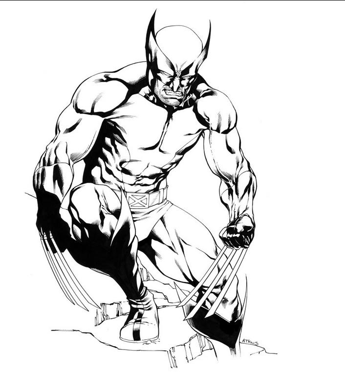 Printable Wolverine Coloring Pages For Boys