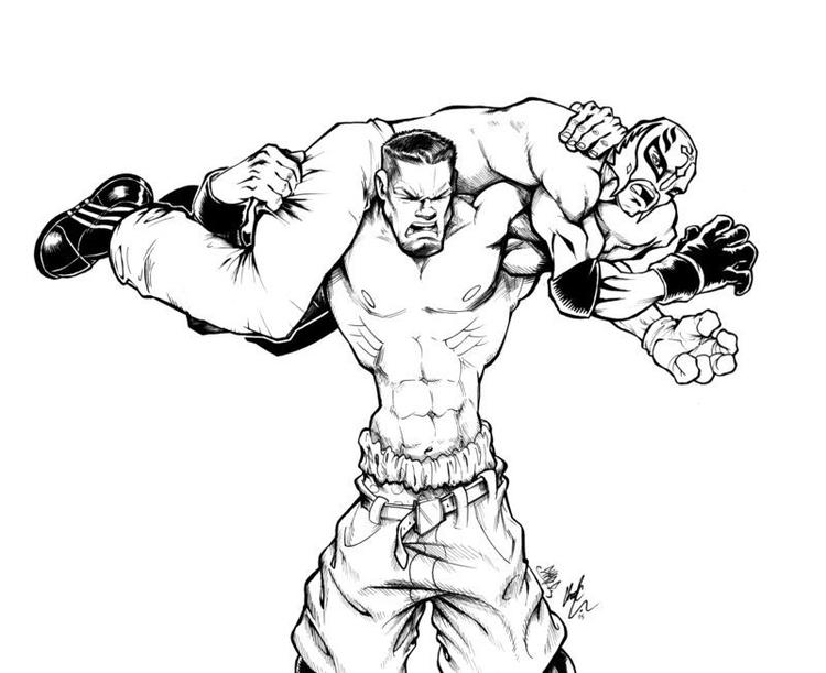 Printable Wwe Coloring Pages