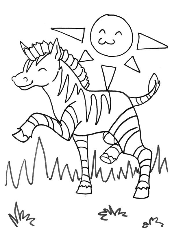 Printable Zebra Coloring Pages For Kids