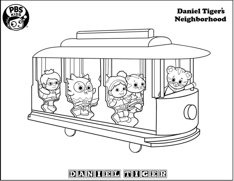 image about Daniel Tiger Coloring Pages Printable known as Printables Trolley Daniel Tiger Coloring Web site - Coloring Designs