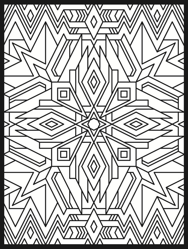Psychedelic Coloring Pages Geometric