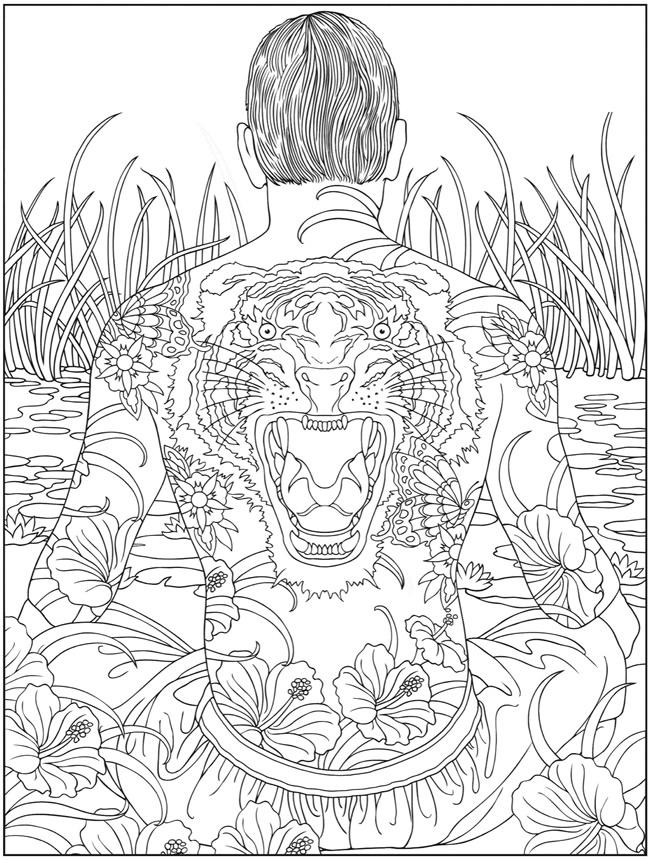 Psychedelic Coloring Pages Tattoo