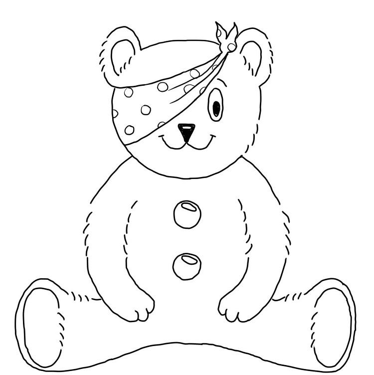 Pudsey Bear Coloring In Page