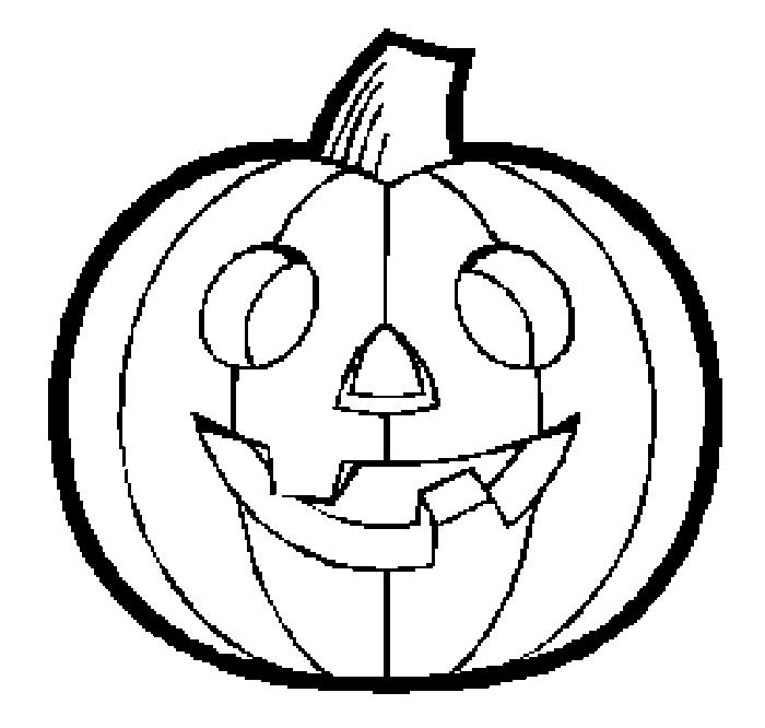 Pumkin Simple Halloween Coloring Pages For Kids