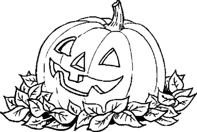 Pumpkin Carving Coloring Pages