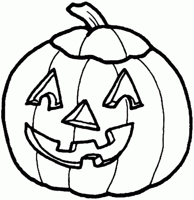 Pumpkin Coloring Pages Of Halloween
