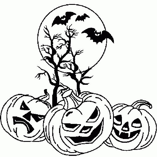 Pumpkin Halloween Coloring Pages Printable