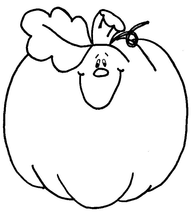 Pumpkin Thanksgiving Coloring Pages For Toddlers