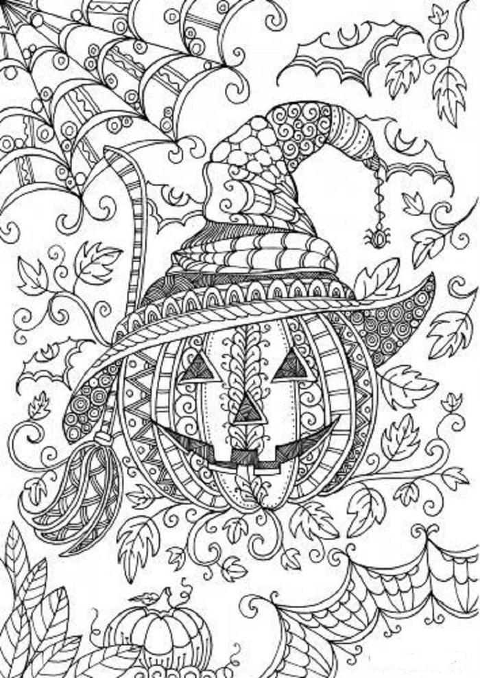 Pumpkins Coloring Pages For Adults