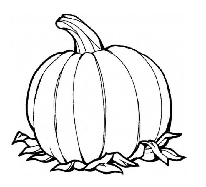 Pumpkins Coloring Pages For Preschoolers