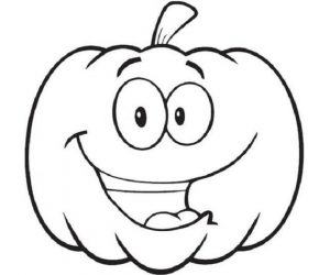 Pumpkins face coloring pages
