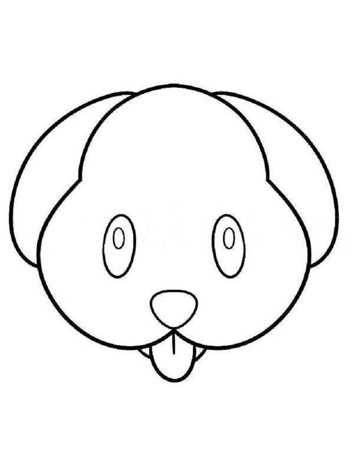 Puppy Emoji Coloring Pages