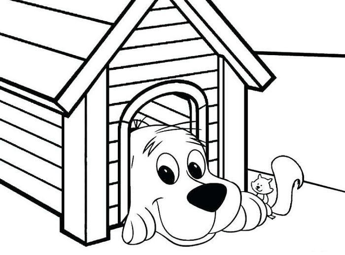 Puppy House Coloring Pages