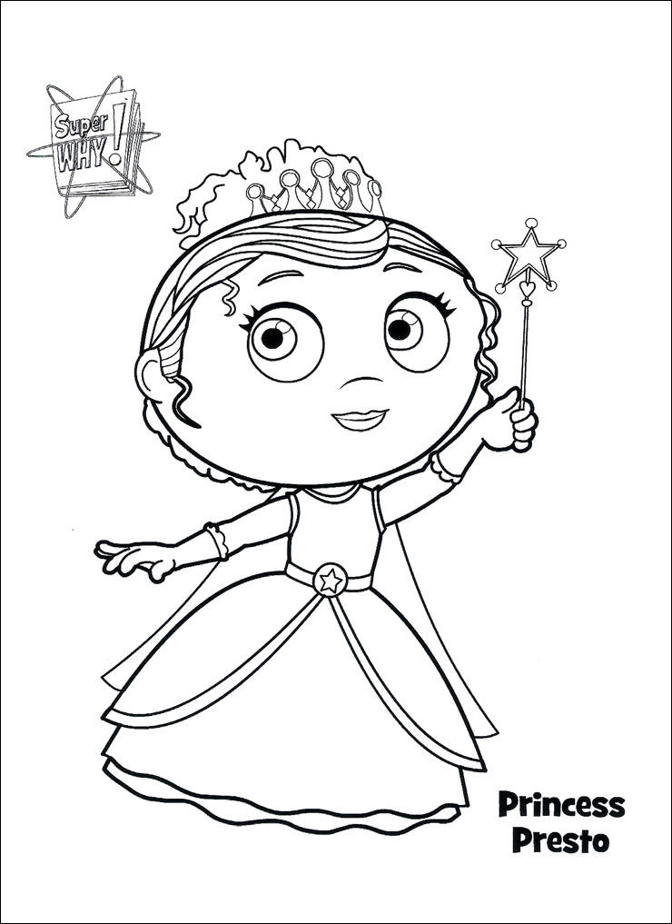 Queen Super Why Coloring Pages