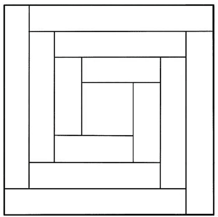 Quilt Block Patterns Coloring Pages