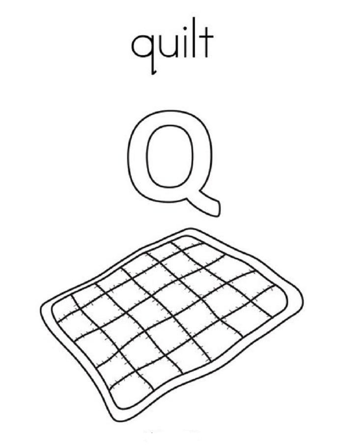 Quilt Coloring Pages For Kindergarten