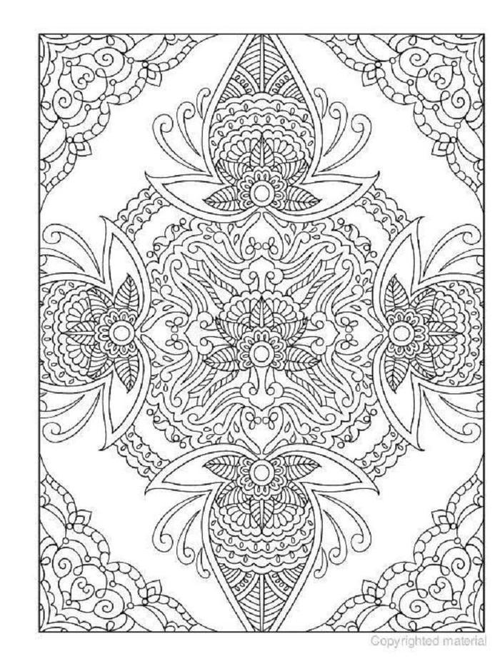 Quilt Design Coloring Pages