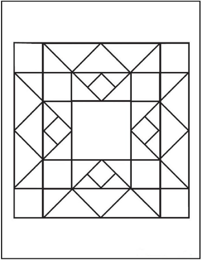 Quilting Geometric Coloring Pages