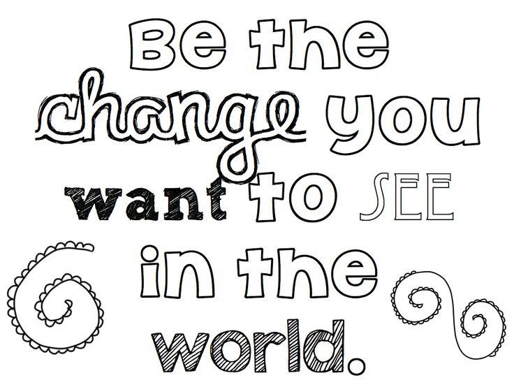 Quote Coloring Pages About Change