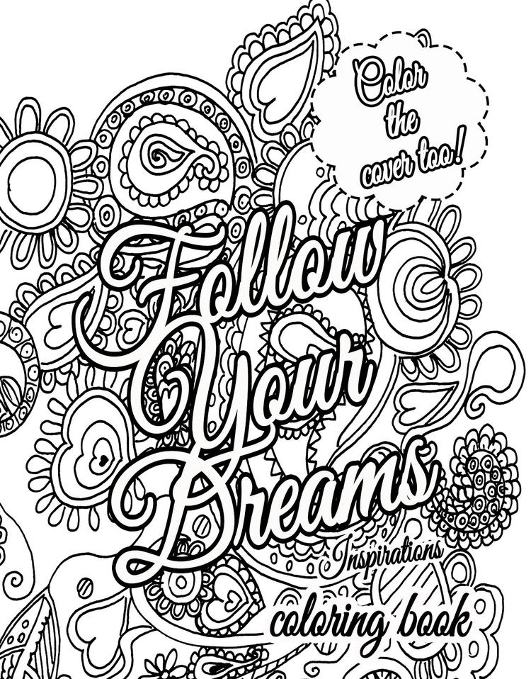Quote Coloring Pages About Dream For Adults