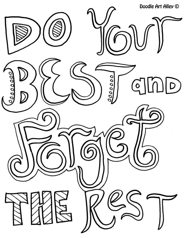 Quote Coloring Pages Do Your Best