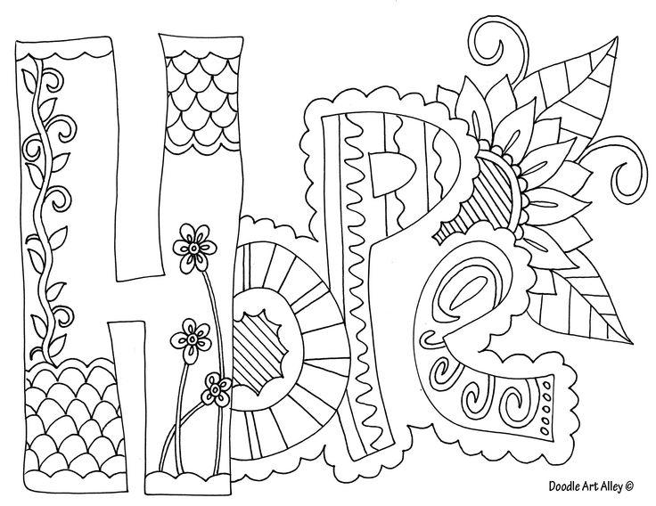 Quote Coloring Pages Of Hope