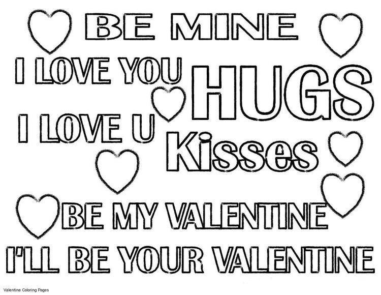 Quote Coloring Pages Of Valentine