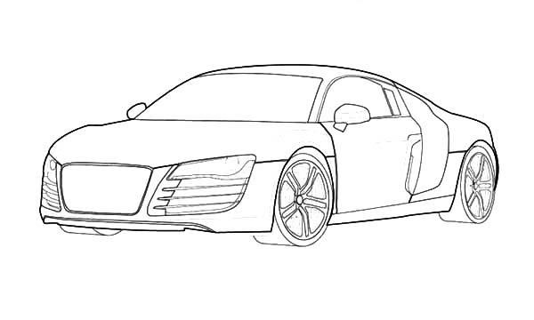 R8 Audi Cars Coloring Pages