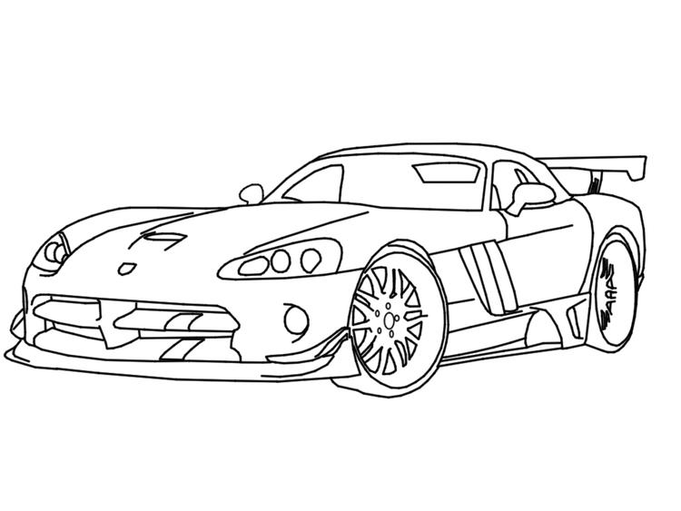 Race Car Coloring Pages Dodge Viper