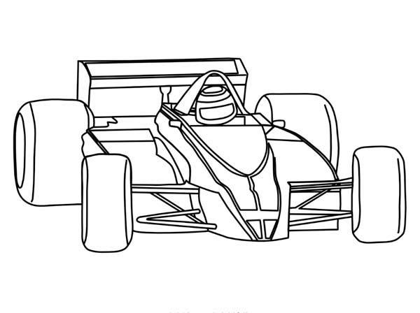 Race Car Coloring Pages Formula One F1
