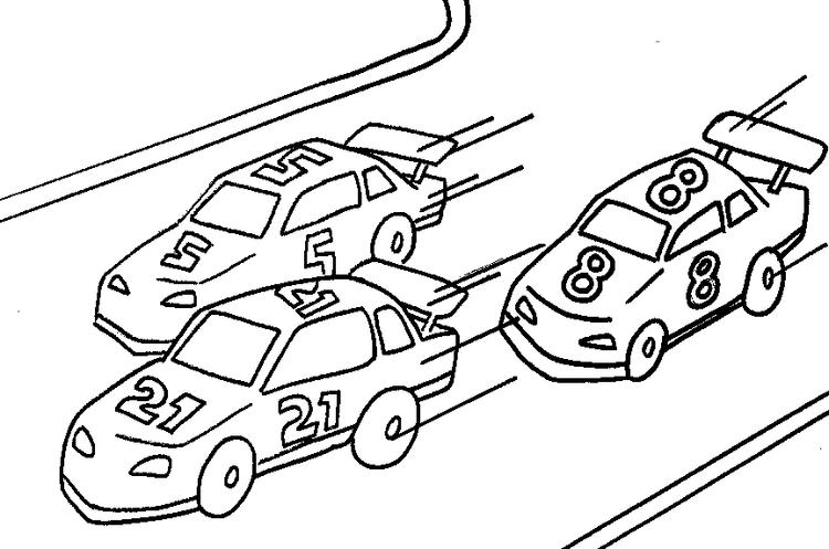 Race Car Coloring Pages In Race