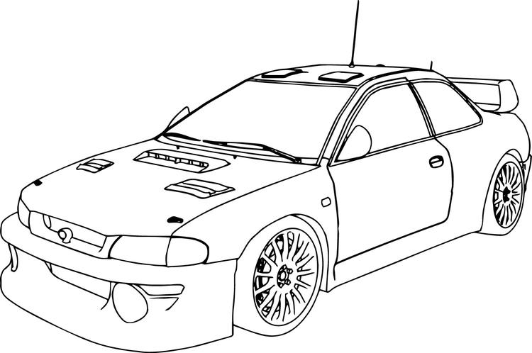 Race Car Coloring Pages Rally Car