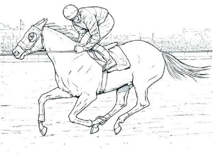 Race Horses Coloring Pages