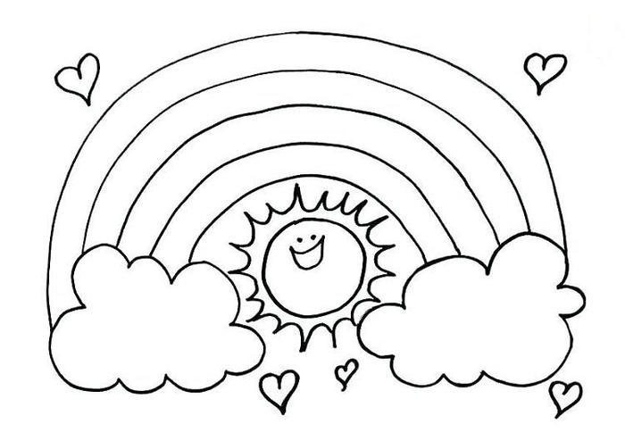 Rainbow Coloring Pages For Kids