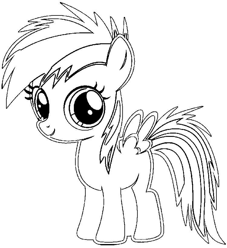 Rainbow Dash Baby Coloring Pages