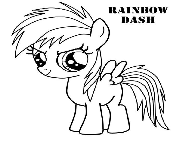 Rainbow Dash Coloring Pages For Toddler