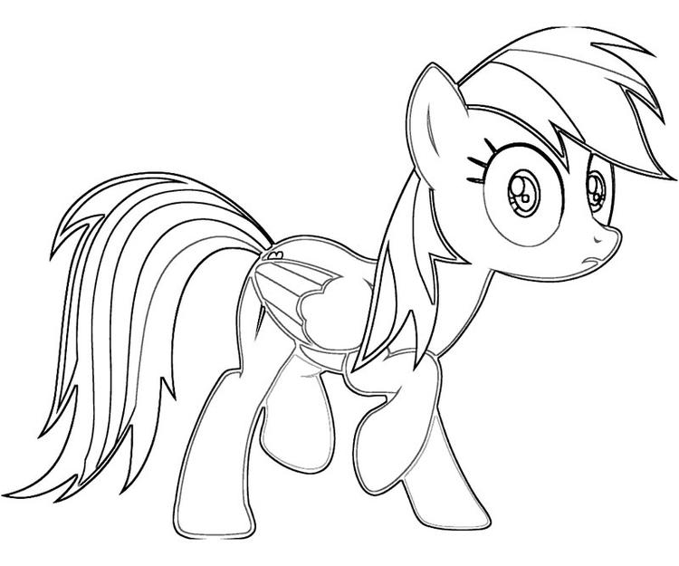 Rainbow Dash Coloring Pages Free For Kids