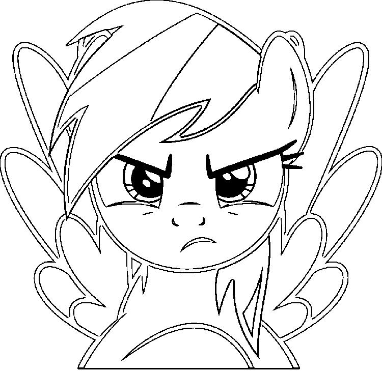 Rainbow Dash Face Coloring Pages
